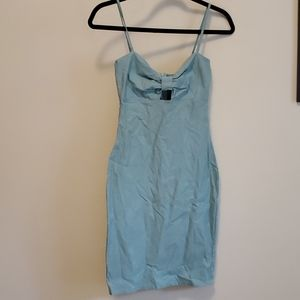 Aqua colour fitted dress size small